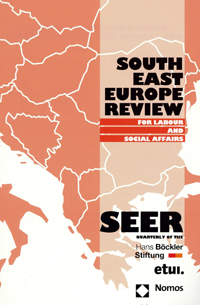 Portada de la revista South East Europe Review for Labour and Social Affairs. SEER