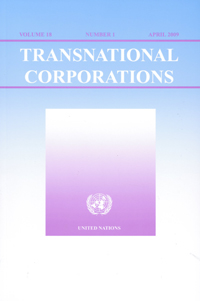 Portada de la revista Transnational Corporations